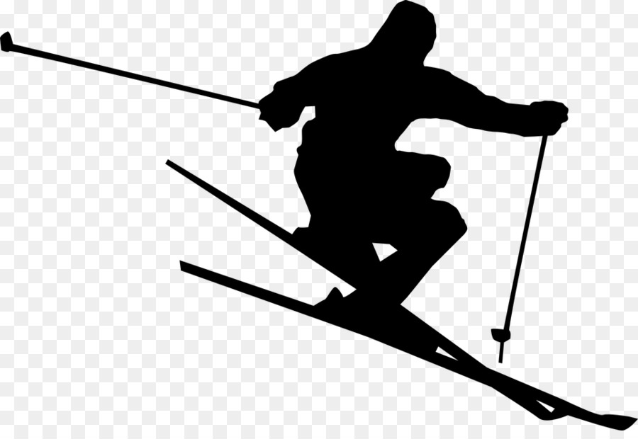 graphic library download Sky background skiing line. Skis clipart ski hill