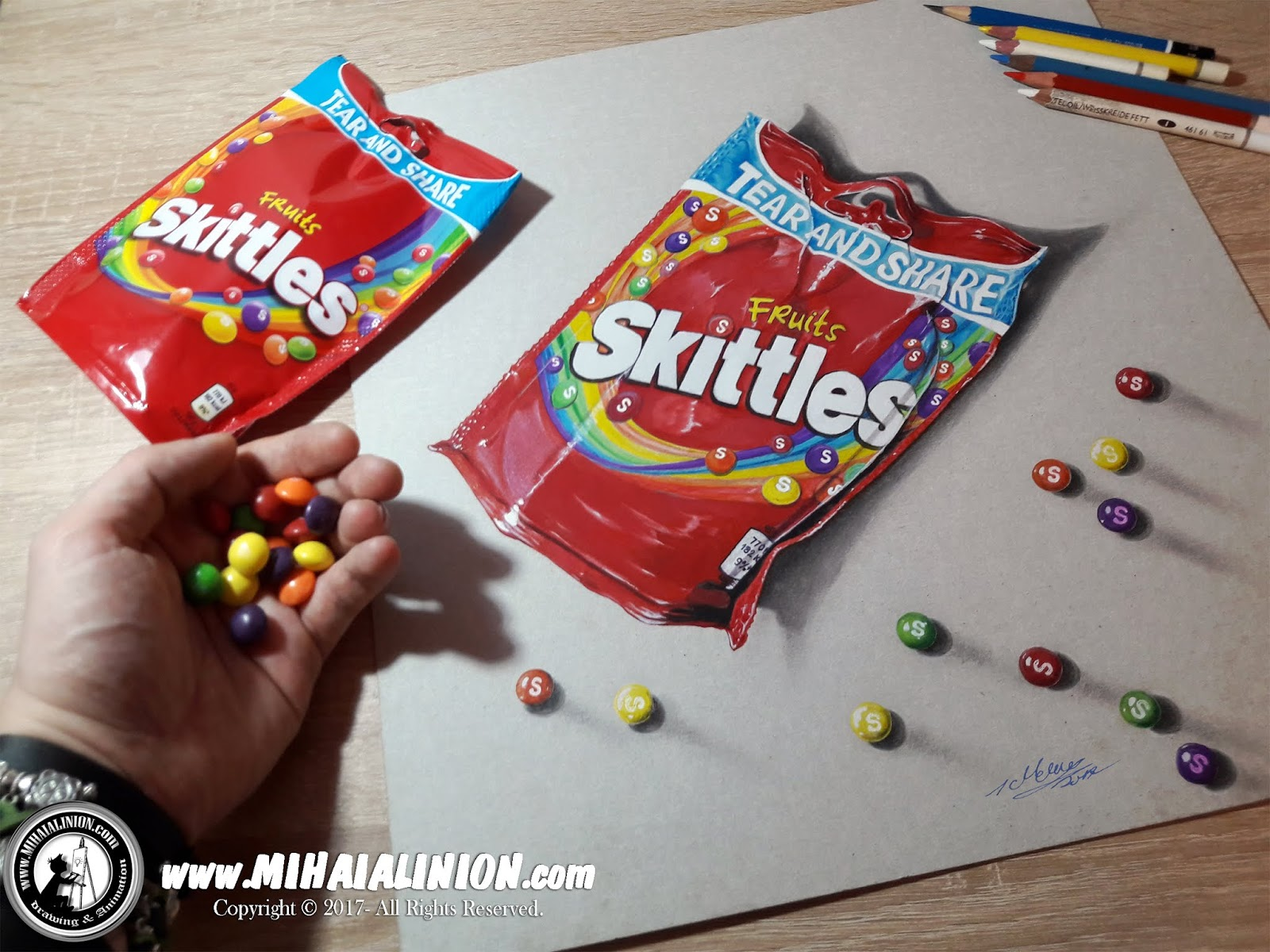 svg black and white stock Mihai alin ion realistic. Skittles drawing