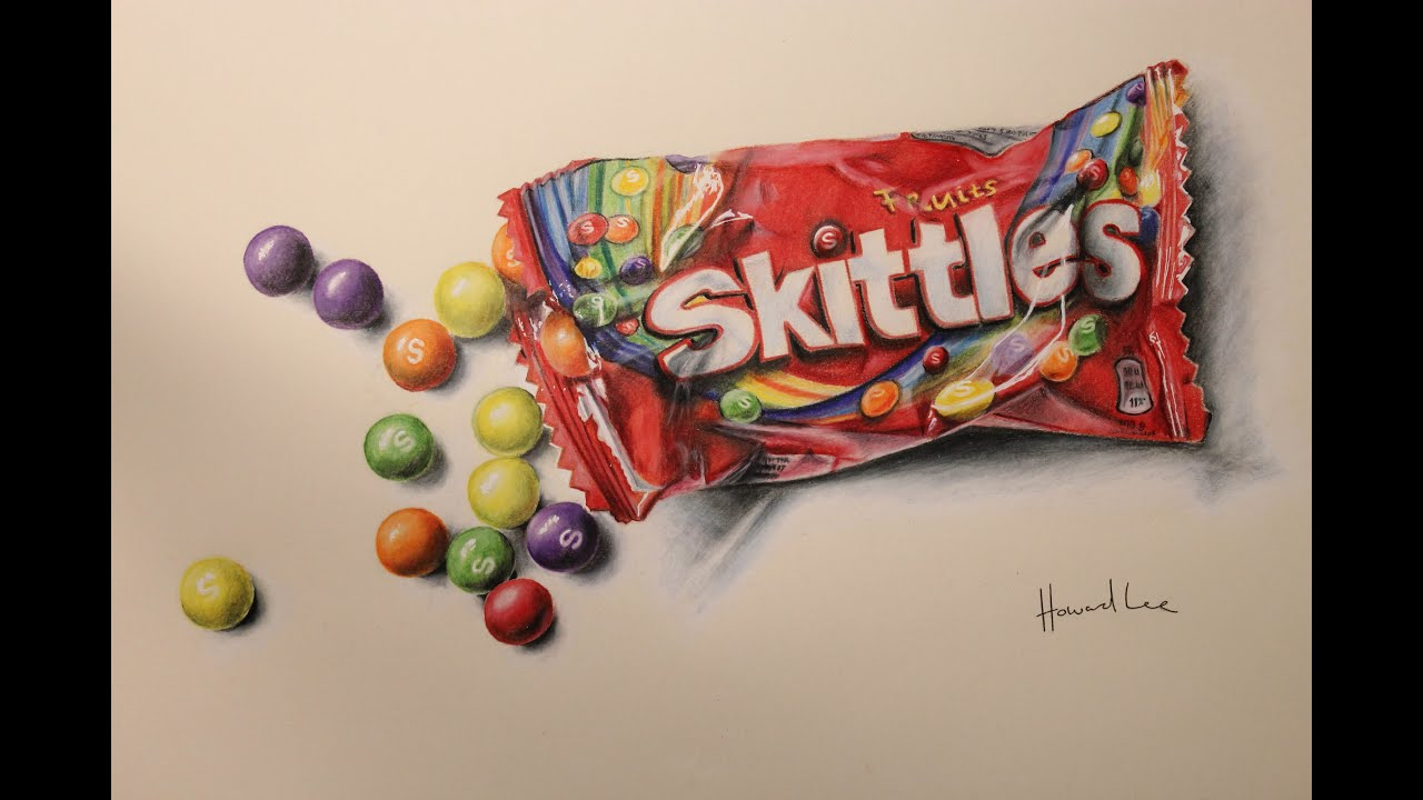 clip art freeuse download Time lapse . Skittles drawing