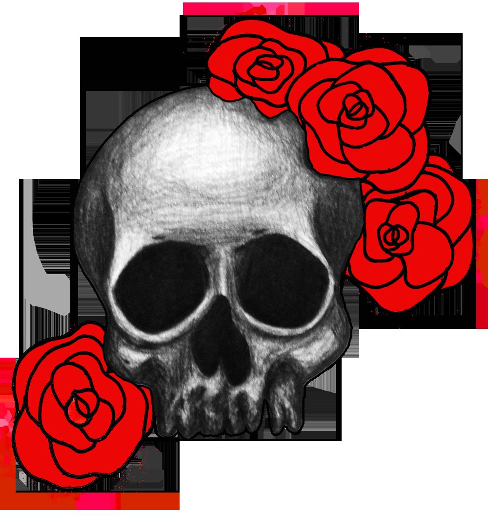 clip free Skull And Roses Drawing at GetDrawings
