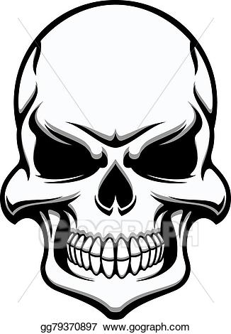 png freeuse library Vector stock black and. Skull clipart.