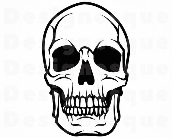 clip art royalty free library Skull clipart. Svg cut files for.