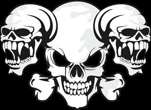 png download Vector emblem skull. Logo vectors free download