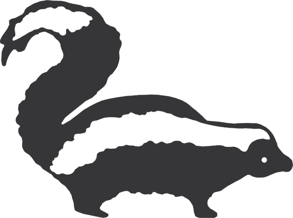 graphic free library Skunk clipart black and white. Panda free images clip