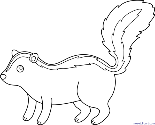 clip art black and white download All clip art archives. Skunk clipart black and white