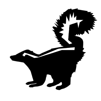clip transparent library Silhouette transparent png stickpng. Skunk clipart black and white