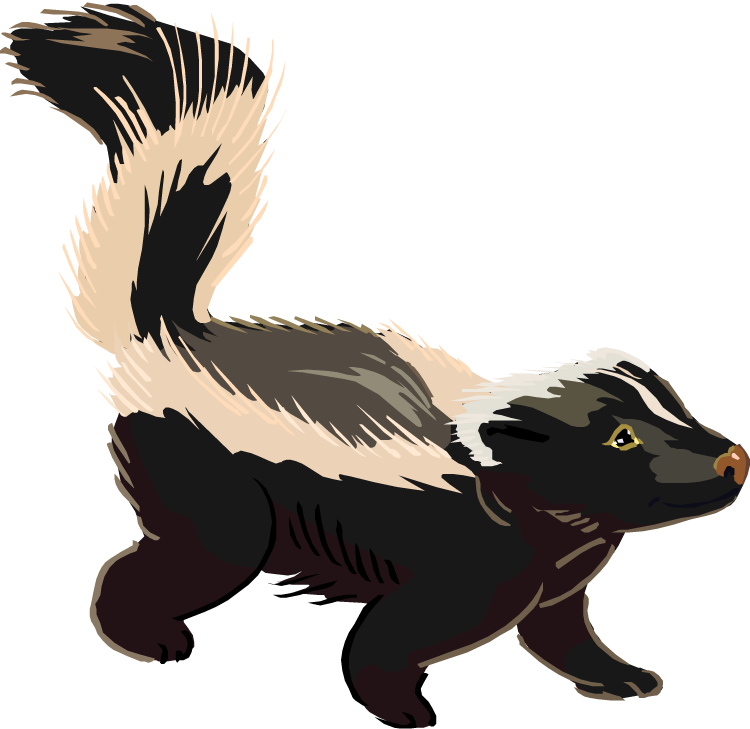 svg royalty free Skunk Free Clipart
