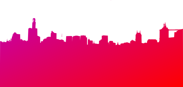 jpg library Purple and red clip. Skyline clipart.