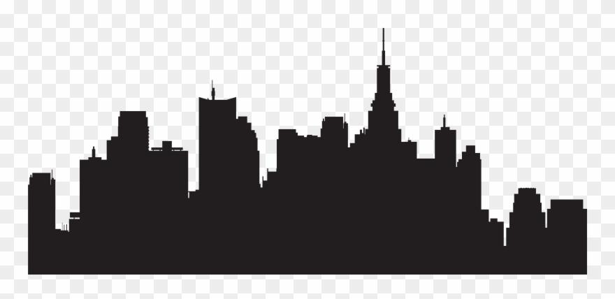 jpg transparent Skyline clipart. New york city silhouette.
