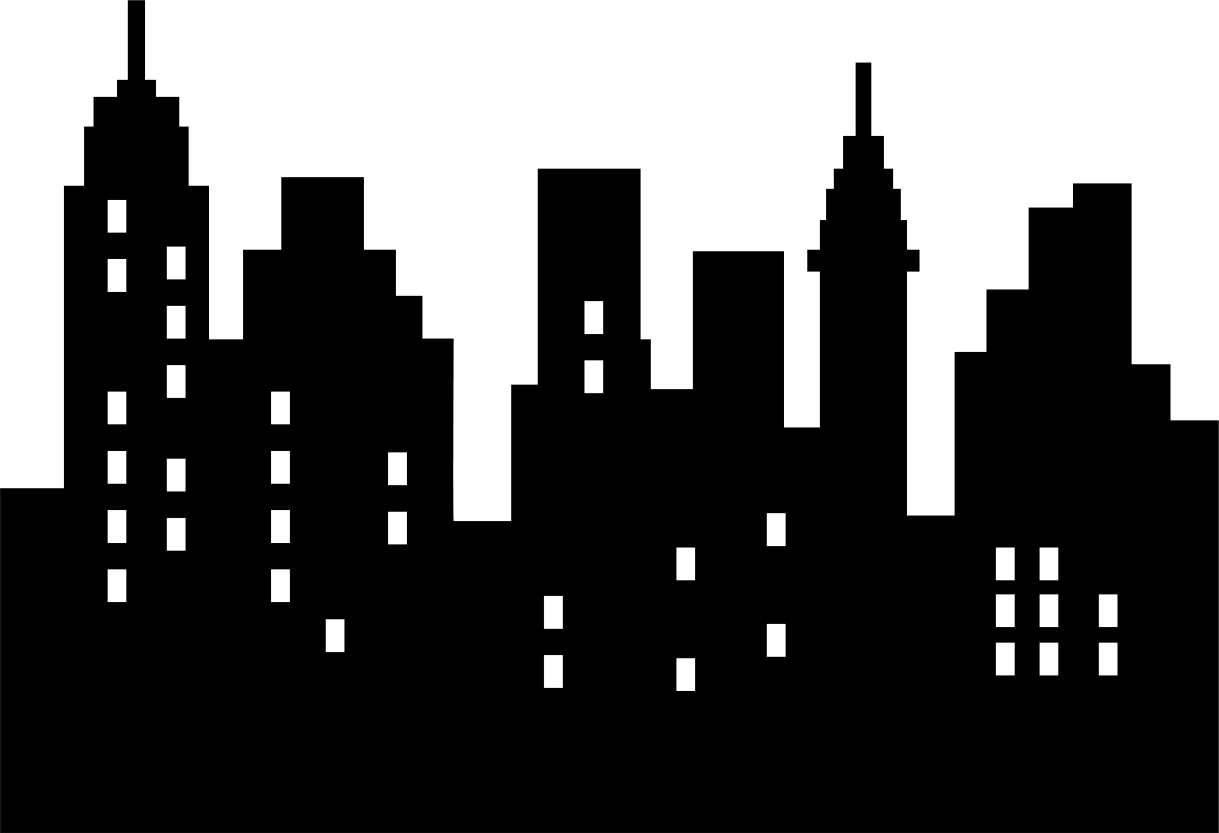 clip black and white stock Free city black and. Skyline clipart.