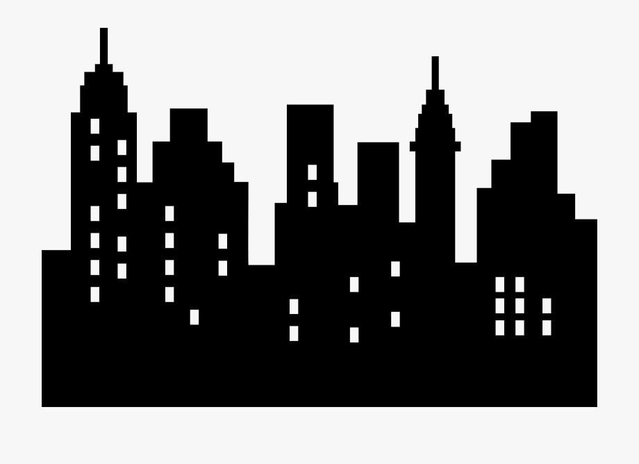 banner transparent Clipart skyscraper simple . Silhouette transparent city skyline