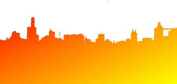 clip Orange Yellow Red Skyline Clip Art at Clker