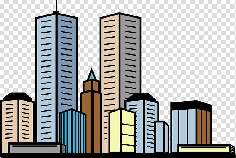 banner library stock Skyscraper clipart. High rise buildings illustration.