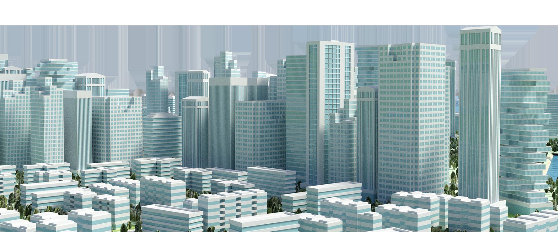 banner transparent stock City Buildings PNG Image