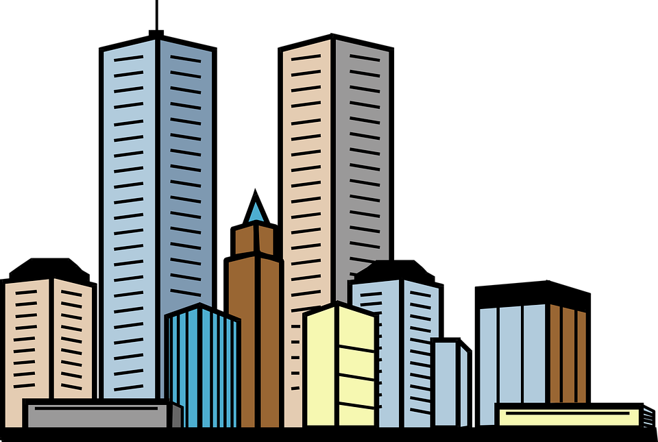 jpg transparent Collection of free cities. Skyscraper clipart black and white