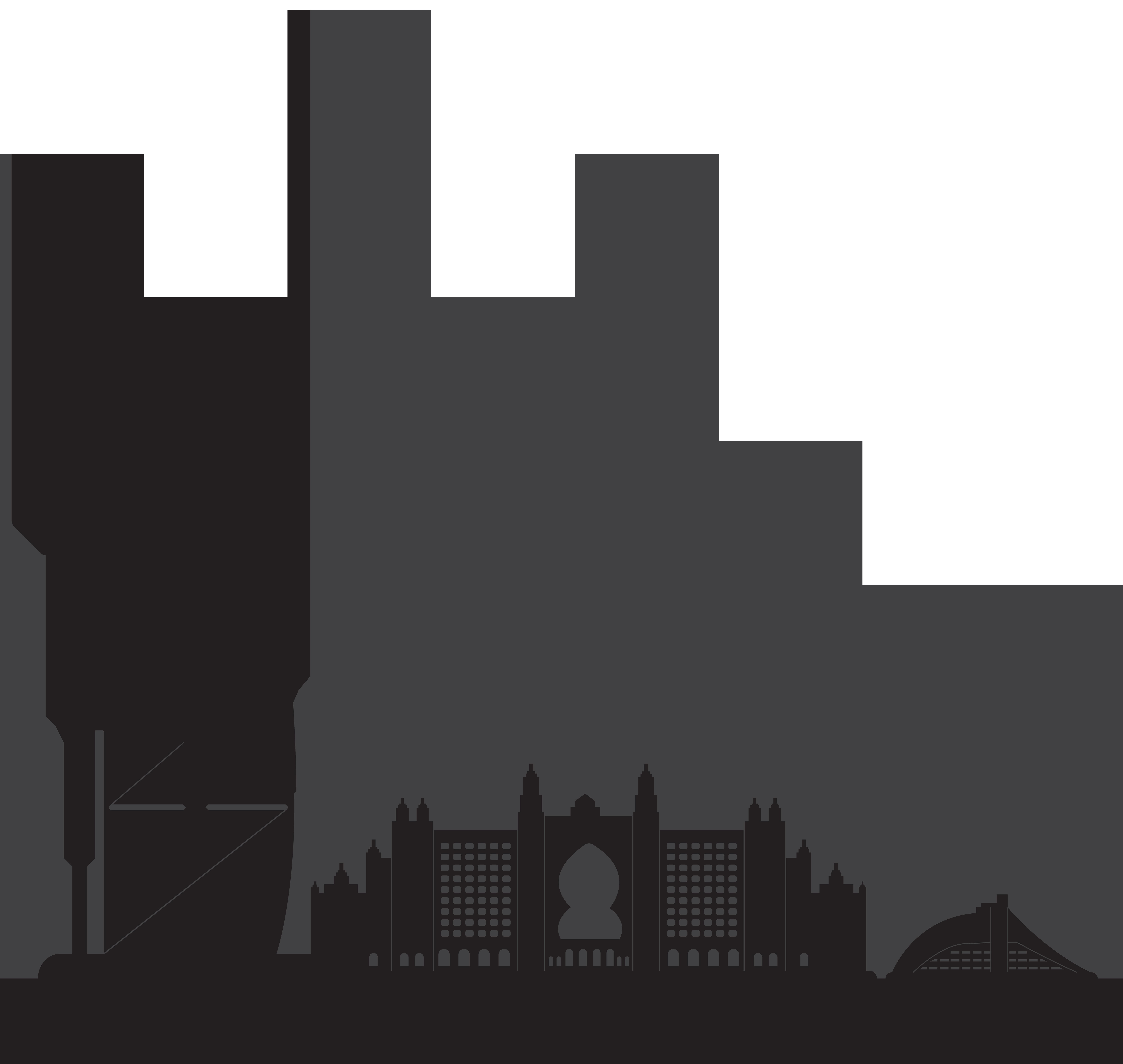 clip black and white stock Skyscraper clipart building dubai