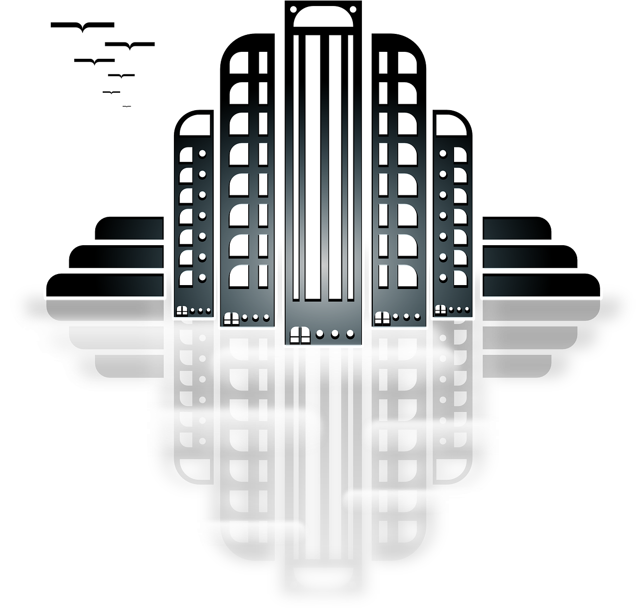 image freeuse library City Skyline Skyscraper Building PNG Image
