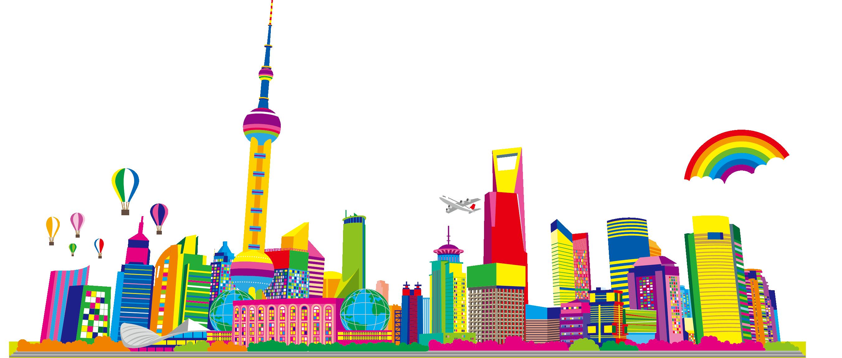 vector Oriental Pearl Tower Cartoon