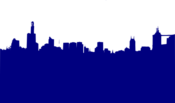 graphic black and white library Blue City Clip Art at Clker