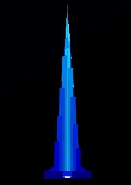 graphic freeuse download Burj Khalifa Skyscraper Blue Tower Building