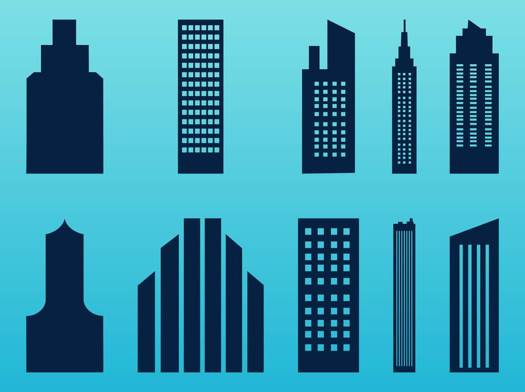 free Skyscraper vector. Stylized skyscrapers set free.