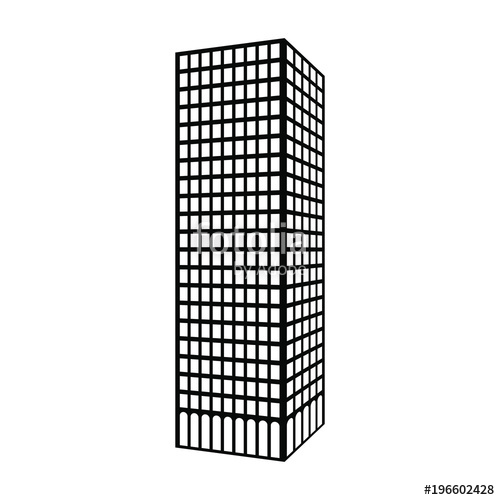 png royalty free Skyscraper vector. Silhouette of icon stock.