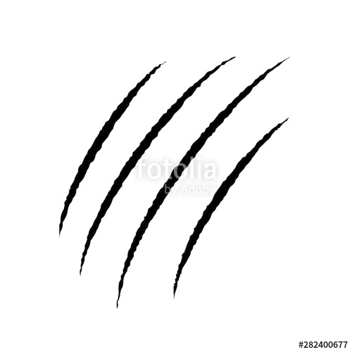 clipart free library Claw scar isolated on white background