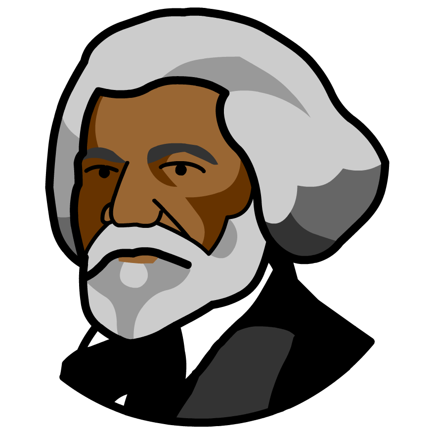 png royalty free stock Frederick douglass at getdrawings. Malcolm x clipart