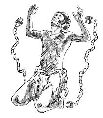 black and white library Image result for slaves in chains