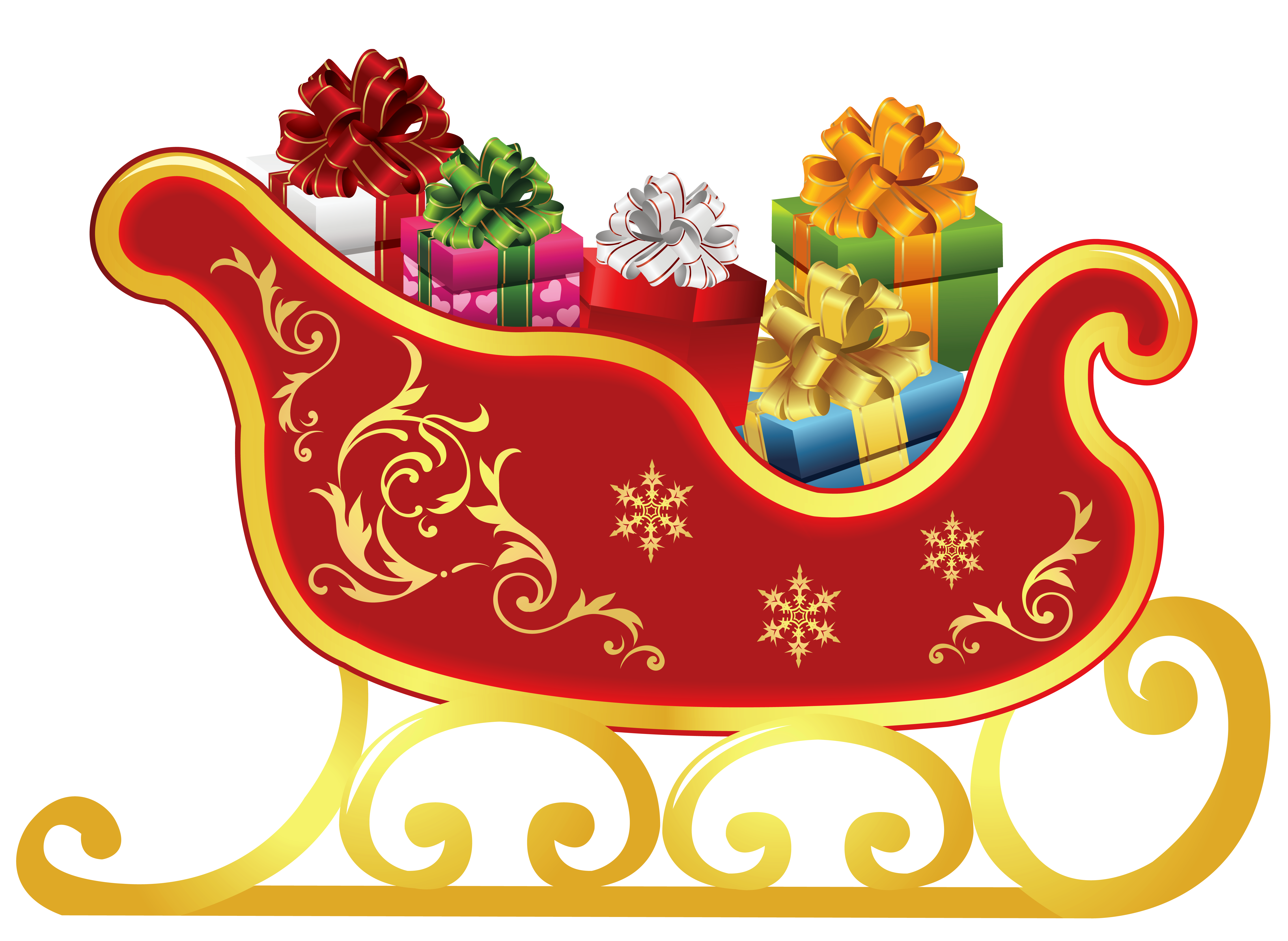 graphic royalty free Christmas Sled Clipart