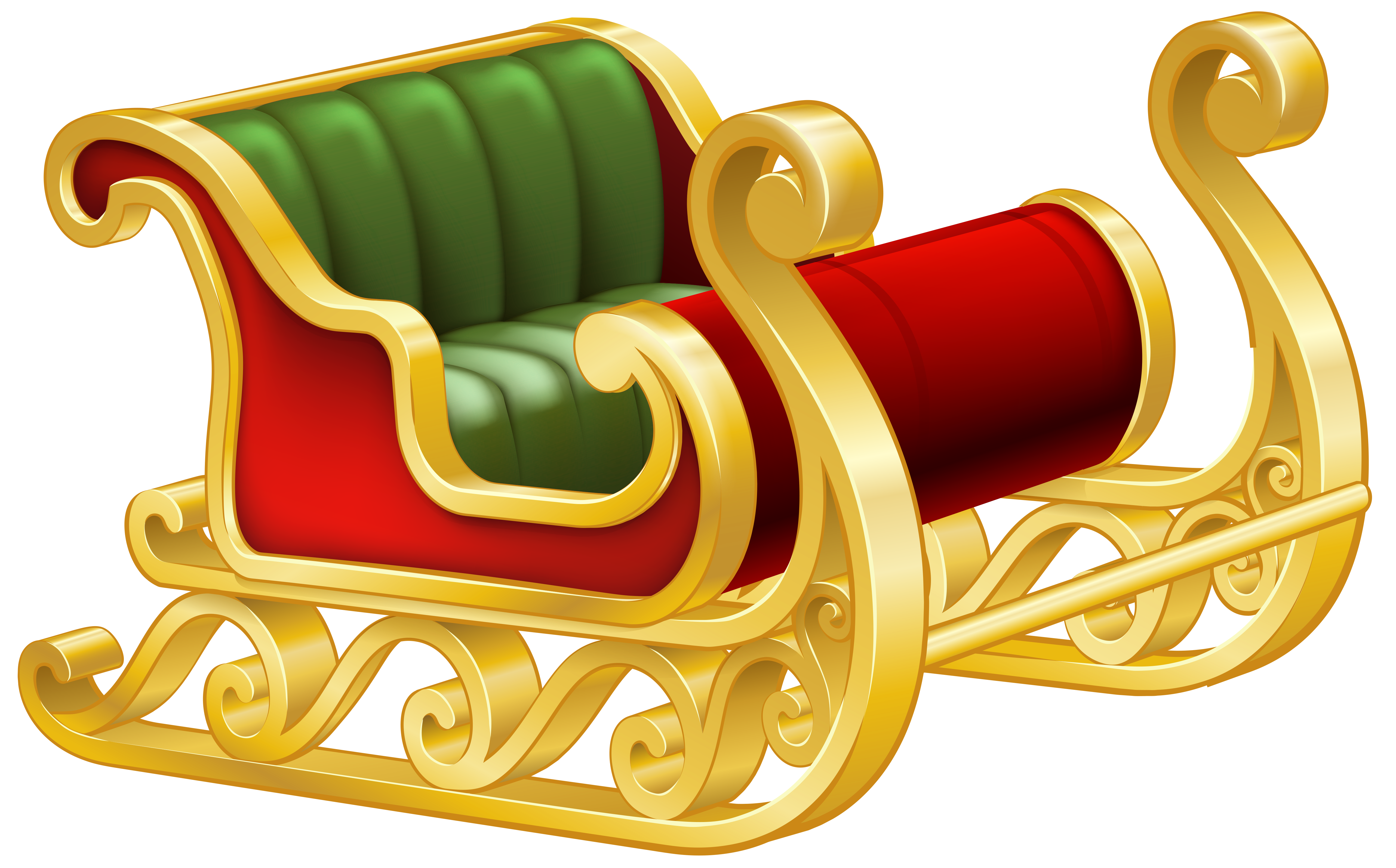 banner free library Santa sleigh png clip. Sled clipart.