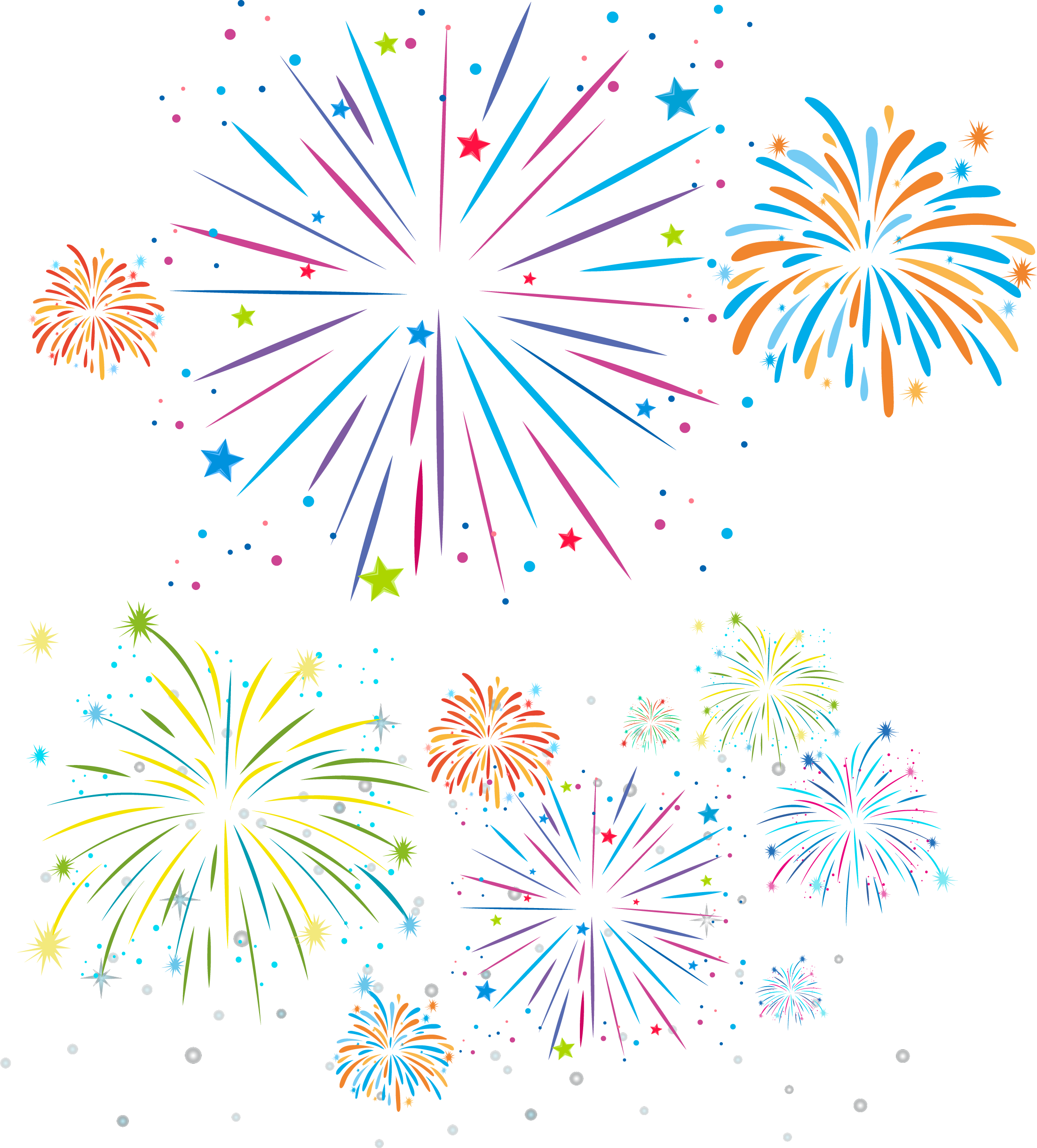 banner royalty free stock Collection of free Fireworks drawing