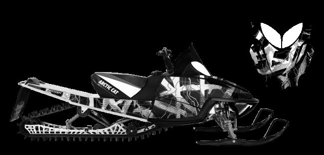 banner black and white download Hard Rain Custom Design for Arctic cat MSERIES
