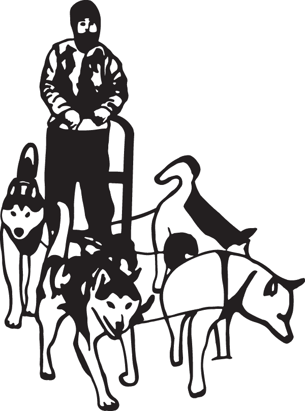graphic royalty free stock Iditarod Decal