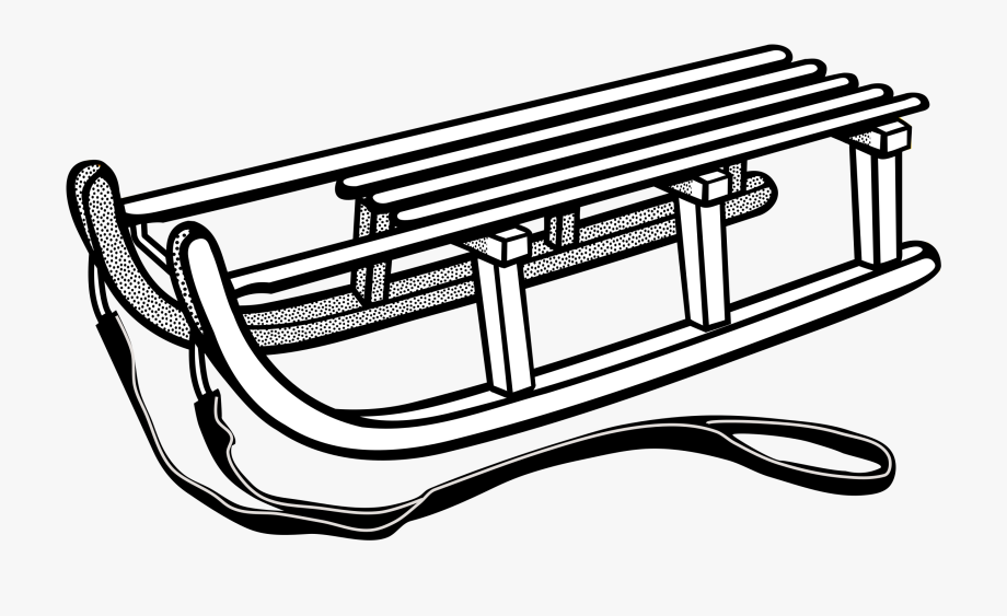 png free stock Png Library Sledding Clipart Black And White