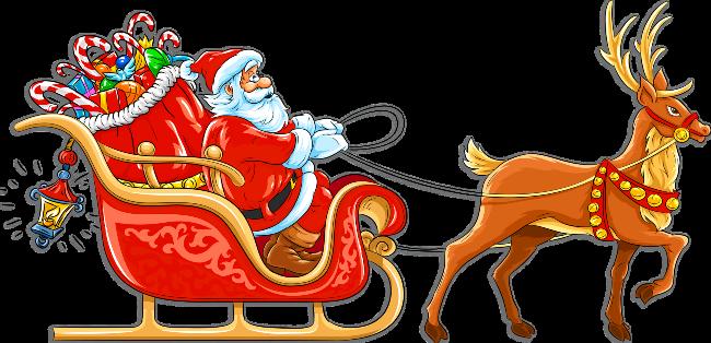 banner freeuse Santa Sled Drawing at GetDrawings