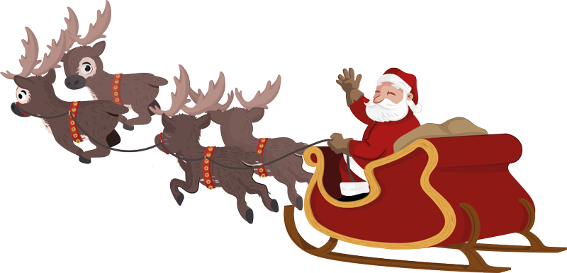 picture royalty free library Santa Claus On Sleigh PNG Transparent Image Free