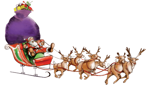 image free download Santa sleigh PNG images free download