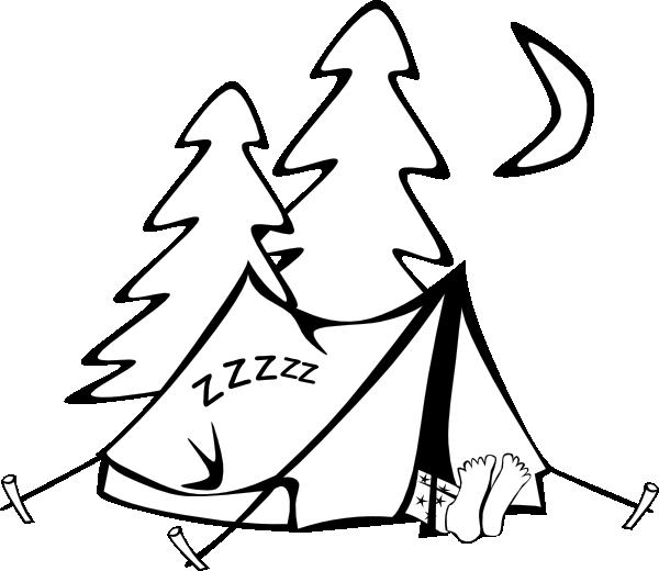banner Sleeping In A Tent Clip Art at Clker