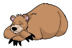 picture free stock Good picture what are. Sleeping bear clipart