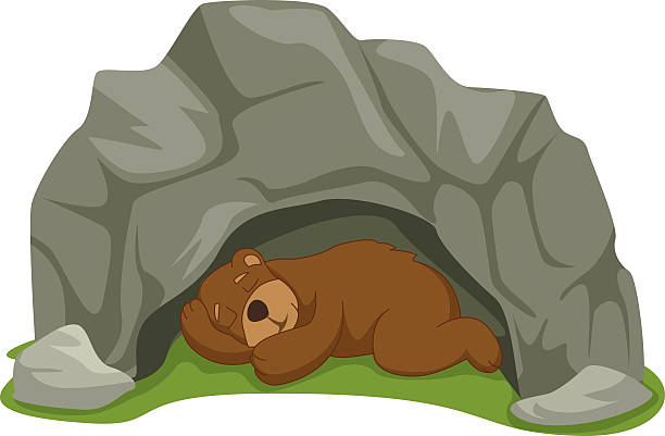 svg black and white stock Sleeping bear clipart. Station