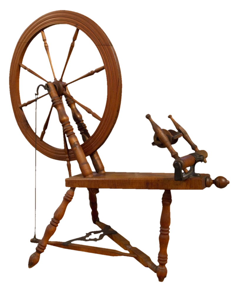 black and white stock Spinning wheel clipart. Antique png by subliminal.
