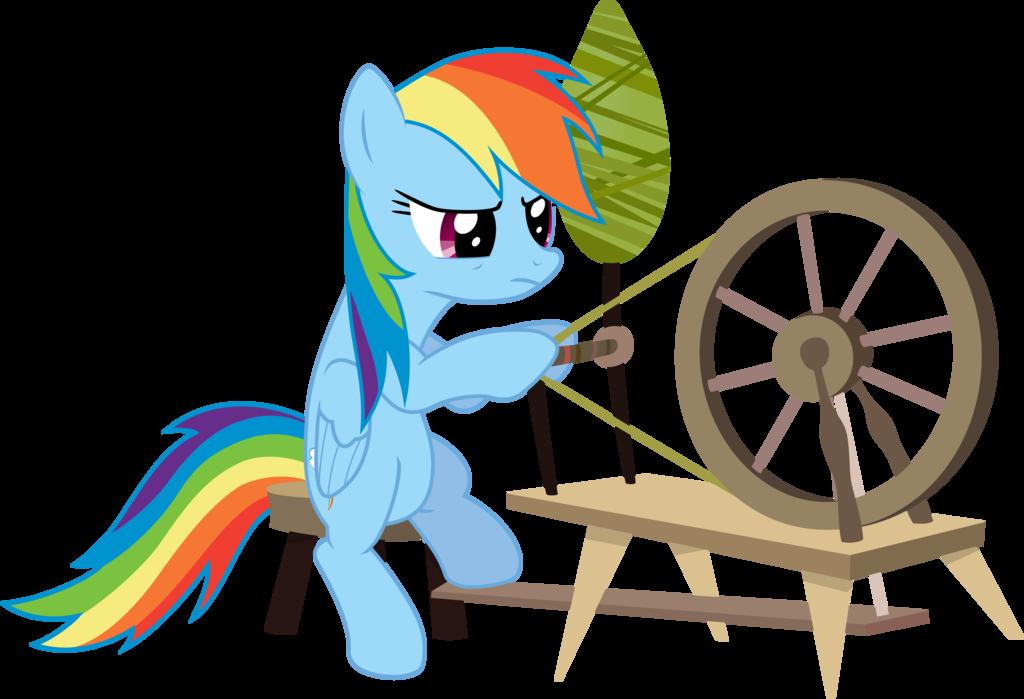svg transparent stock Sleeping beauty spinning wheel clipart. Rainbow dash hates chores