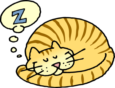 svg freeuse download Sleeping Cat Clipart