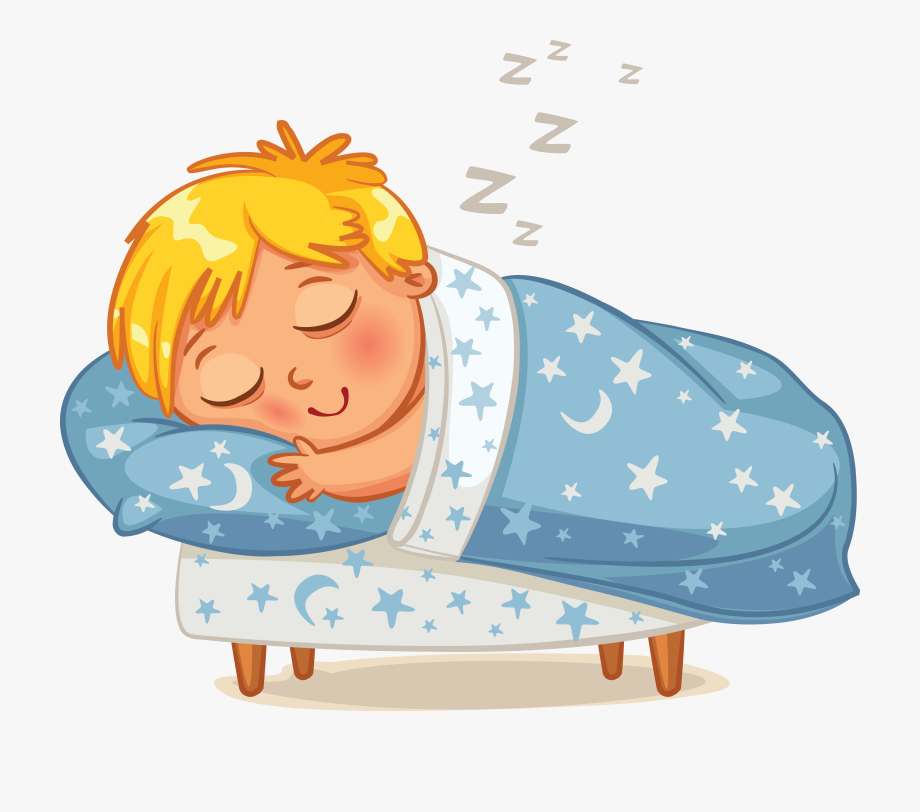 image royalty free library Sleep well bed time. Sleeping clipart