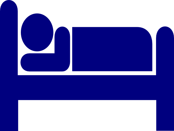 graphic freeuse stock Blue Sleep Bed Clip Art at Clker