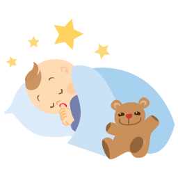 image library stock Baby sleeping Icon