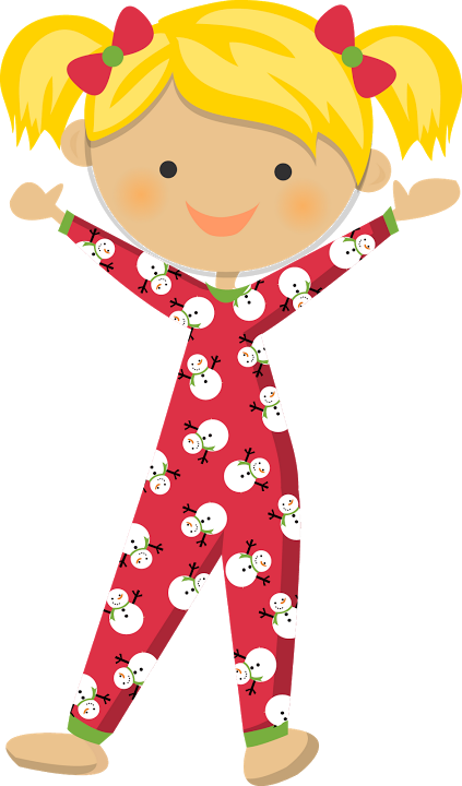 picture freeuse library Kids in pajamas clipart. Fiesta del pijama pyjama