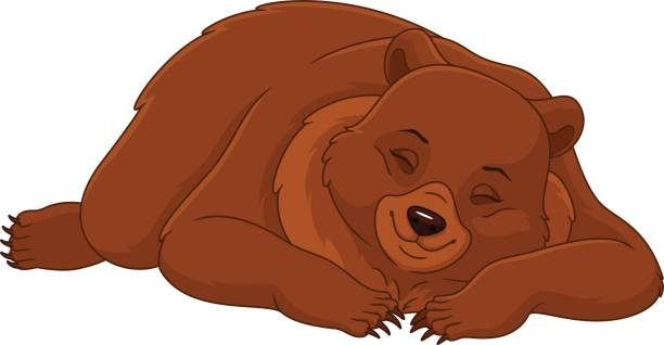 image black and white Station . Sleepy bear clipart