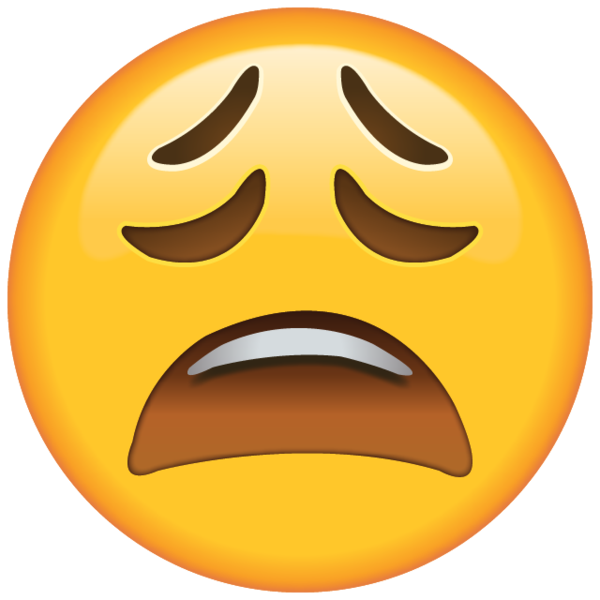 clip art library download High resolution tired face emoji